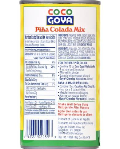 Goya Foods Piña Colada Mix