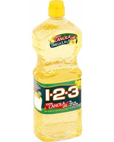 Canola Oil 1-2-3