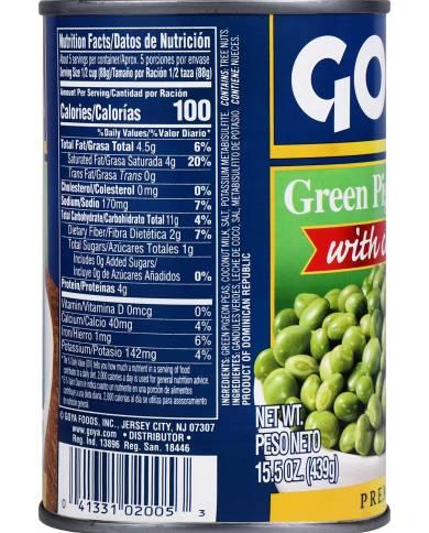 Goya Foods Green Pigeon...